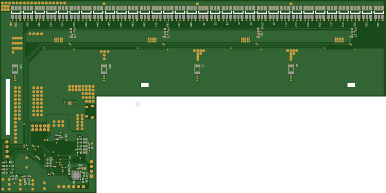 Rendered PCB - Bottom