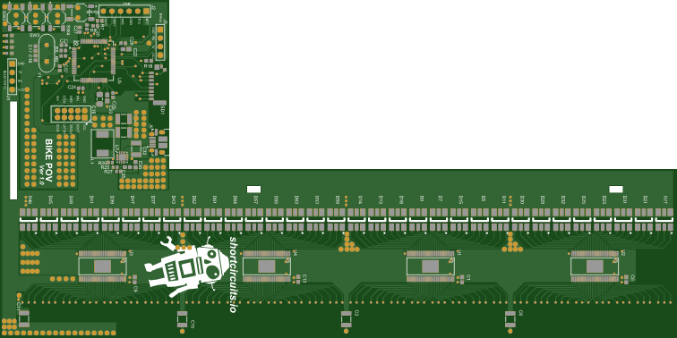 Rendered PCB - Top
